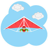 The hang-glider icon Stock Photography