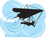 Hang Glider. illustration. Royalty Free Stock Photo