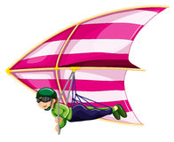 Hang glider. Illustration of a man doing hangglider Royalty Free Stock Images
