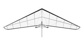 Hang Glider Isolated su fondo bianco Fotografia Stock