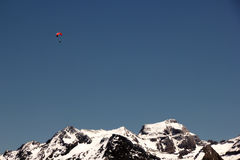 Hang-Glider and Mountains Stock Image