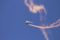 Hang glider during opening ceremony, July 4, Independence Day Parade, Telluride, Colorado, USA Stock Photography