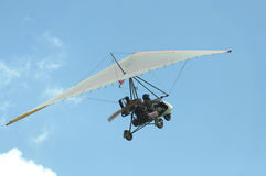 Hang-glider over  blue sky Stock Images