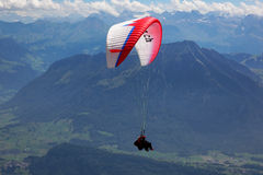 Hang glider over Central Switzerland, Europe Royalty Free Stock Photos