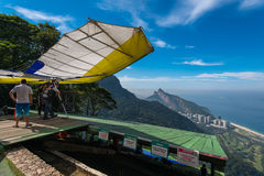 Hang Glider Prepares to Take Off Royalty Free Stock Photo
