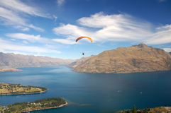 Hang-glider in Queenstown Royalty Free Stock Photo
