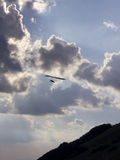 Hang glider silhouette Royalty Free Stock Photo