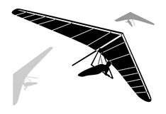 Hang Glider Silhouettes Images stock