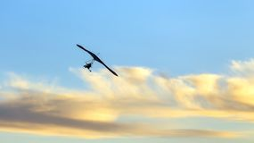 Hang glider in the sky Stock Photography