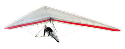 Hang glider soaring the thermal updrafts Royalty Free Stock Photos