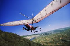 Free Hang Glider Start From A Ramp Stock Images - 4126394