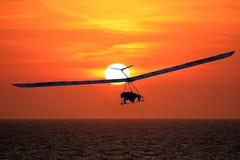 Hang Glider at Sunset Royalty Free Stock Photography