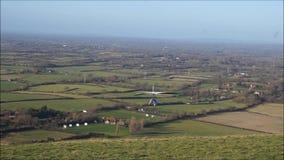 Hang Glider Take-Off e voo video estoque