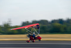 Hang glider taking off Stock Photo