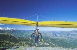 Hang Glider taking off of cliff Stock Photography