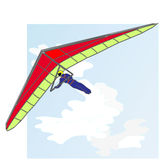 Hang glider vector Royalty Free Stock Image