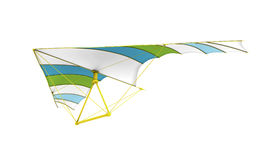 Hang glider on the white background Stock Photography