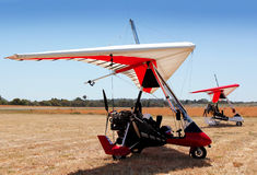 Hang gliders Stock Photography