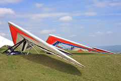 Hang Gliders fotografia stock