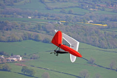 Hang Gliders flying. In the Brecon Beacons Stock Photography