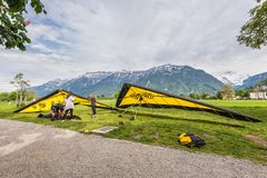 Hang Gliding stock afbeelding
