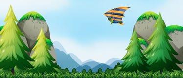 Hang Gliding ilustração royalty free