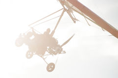 Hang Gliding as extreme and fun sport. Stock Image