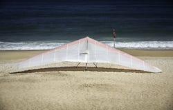 Hang gliding on the beach, Rio de Janeiro Stock Image