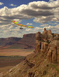 Hang Gliding Canyon Stock Photo