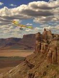 Hang Gliding Canyon stock photo