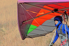 Hang gliding competitions Stock Photos