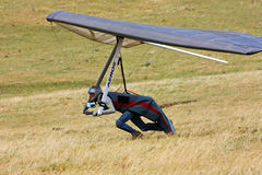 Hang gliding competitions in Italy Stock Photos