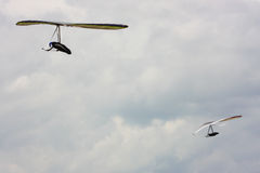 Hang gliding competitions in Italy Stock Images