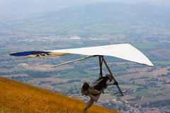 Hang gliding competitions in Italy Royalty Free Stock Image
