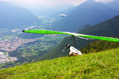 Hang gliding competitions  over Kobala mountain Stock Photography