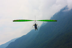 Hang gliding competitions  over Kobala mountain Stock Photo