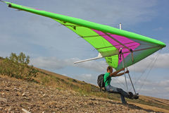 Hang gliding in Crimea taken in autumn Stock Photography