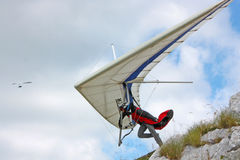 Hang gliding in Croatia Royalty Free Stock Images