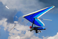 Hang gliding in Greifenburg, Austria Stock Images
