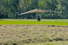 Hang gliding in Julian Alps Royalty Free Stock Image