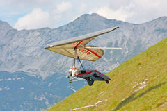 Hang gliding in Julian Alps Stock Images