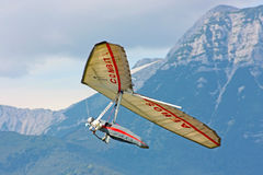 Hang gliding in Julian Alps Stock Photo