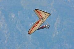 Hang gliding in Julian Alps Stock Photo