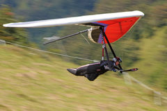 Hang gliding in Julian Alps Stock Photography