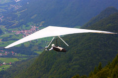 Hang gliding in Monte Cucco Stock Photos