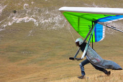 Hang gliding in Monte Cucco Royalty Free Stock Photos