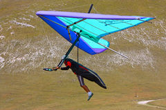 Hang gliding in Monte Cucco Royalty Free Stock Photography