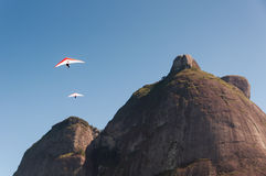 Hang Gliding from the Mountain Royalty Free Stock Photo