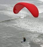 Hang Gliding Over Ocean Stock Photography