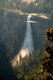 Hang-Gliding over valley Royalty Free Stock Image